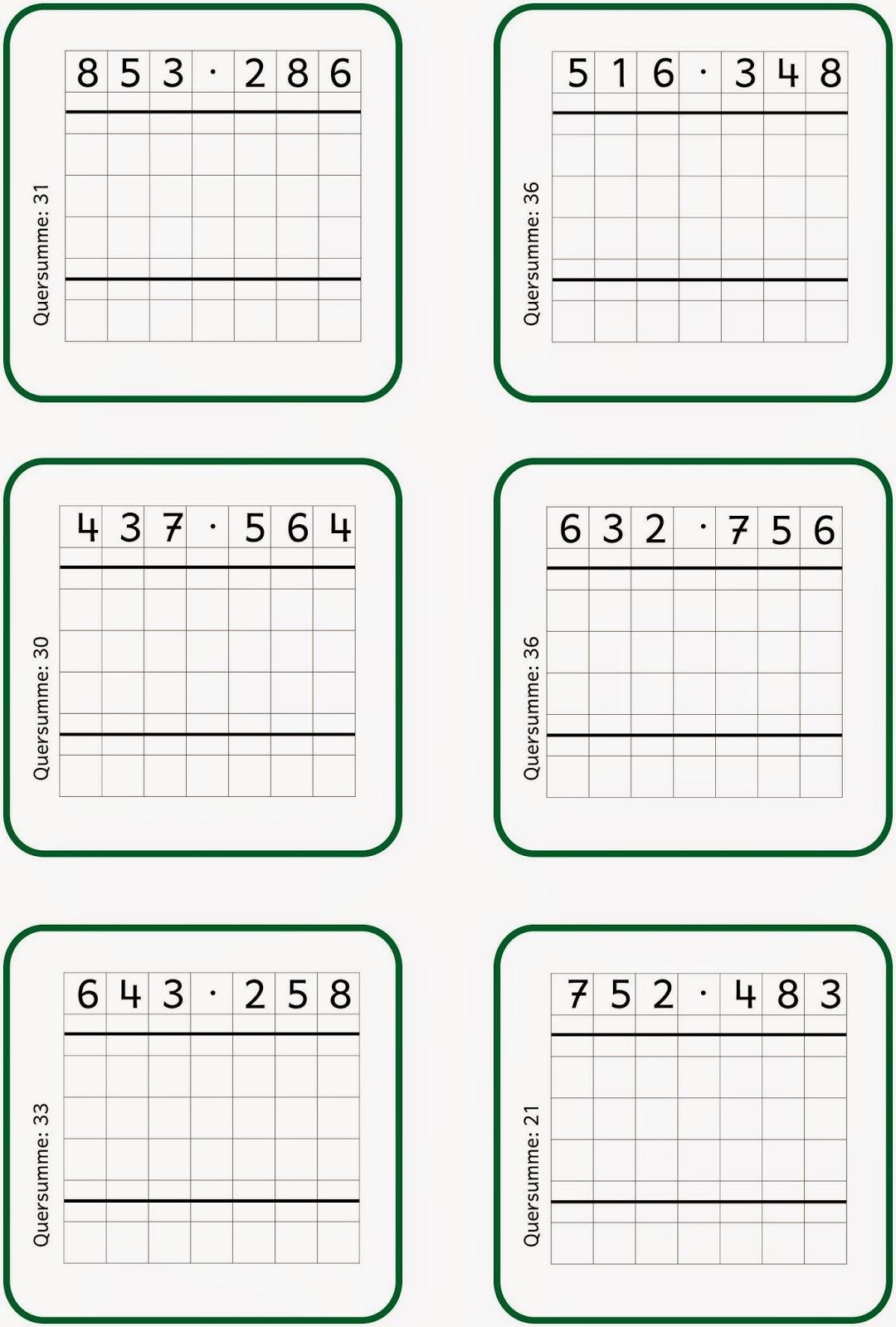 Lernstübchen: schriftlich multiplizieren (2)