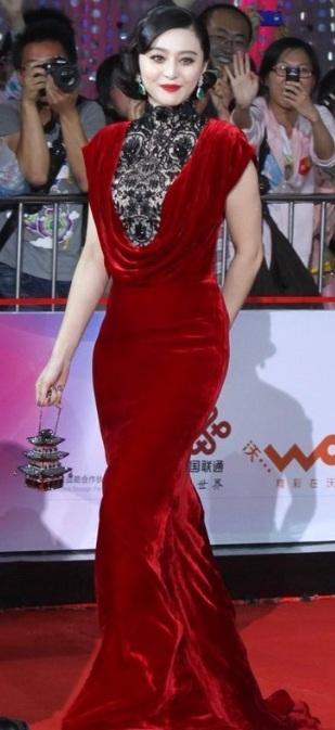 Fan Bingbing in Tadashi Shoji at 2012 Beijing Film