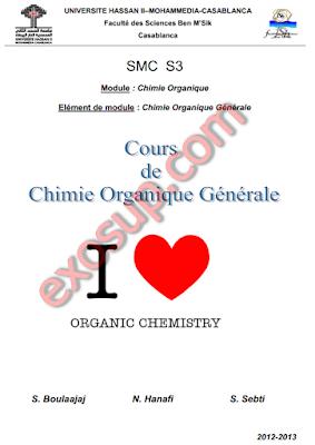 Cours: Chimie Organique générale filière SMP-SMC S3 fsbm
