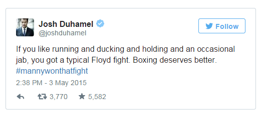 Random celebrity tweets on manny