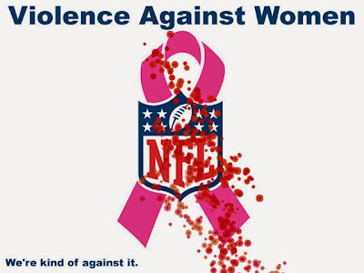 NFL pink logo violence against woman NFL cares breast cancer awareness