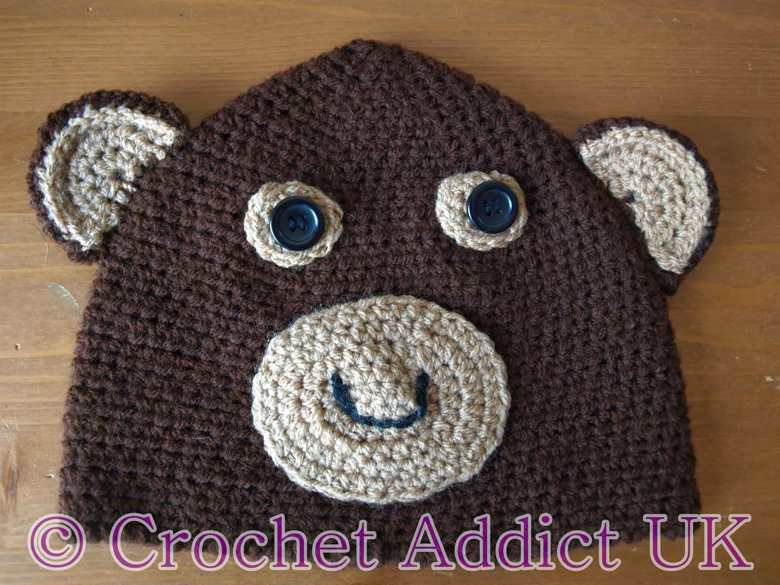 Monkey beanie hat 1 yr free crochet pattern crochet addict uk monkey beanie hat 1 yr free crochet pattern crochet addict uk bankloansurffo Images