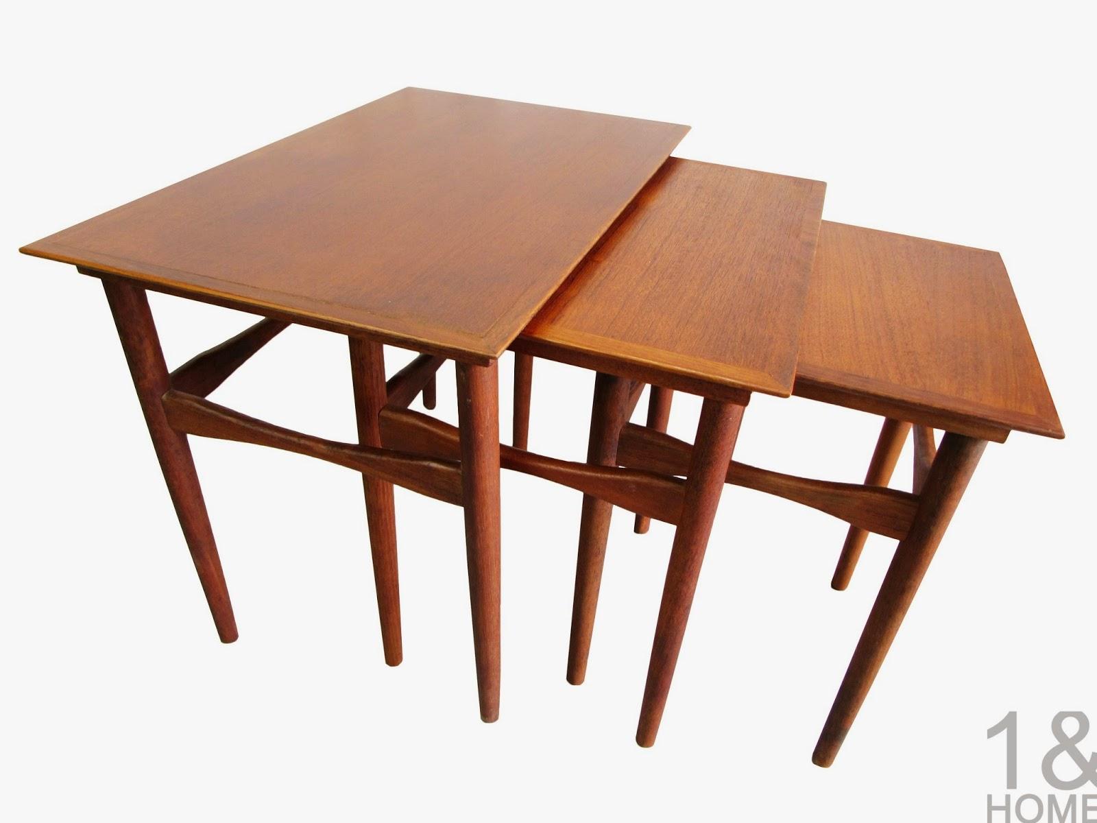 Rosewood Danish Modern Nesting Tables Fabian