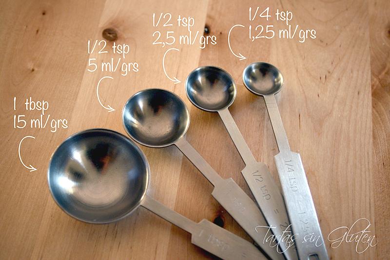 Tartas sin gluten 365 dias sin gluten cup for 1 table spoon is how many ml