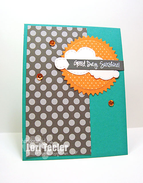 Good Day, Sunshine card-designed by Lori Tecler/Inking Aloud-stamps from Lil' Inker Designs