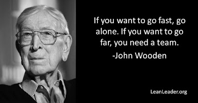 If you want to go fast, go alone. If you want to go far, you need a team.