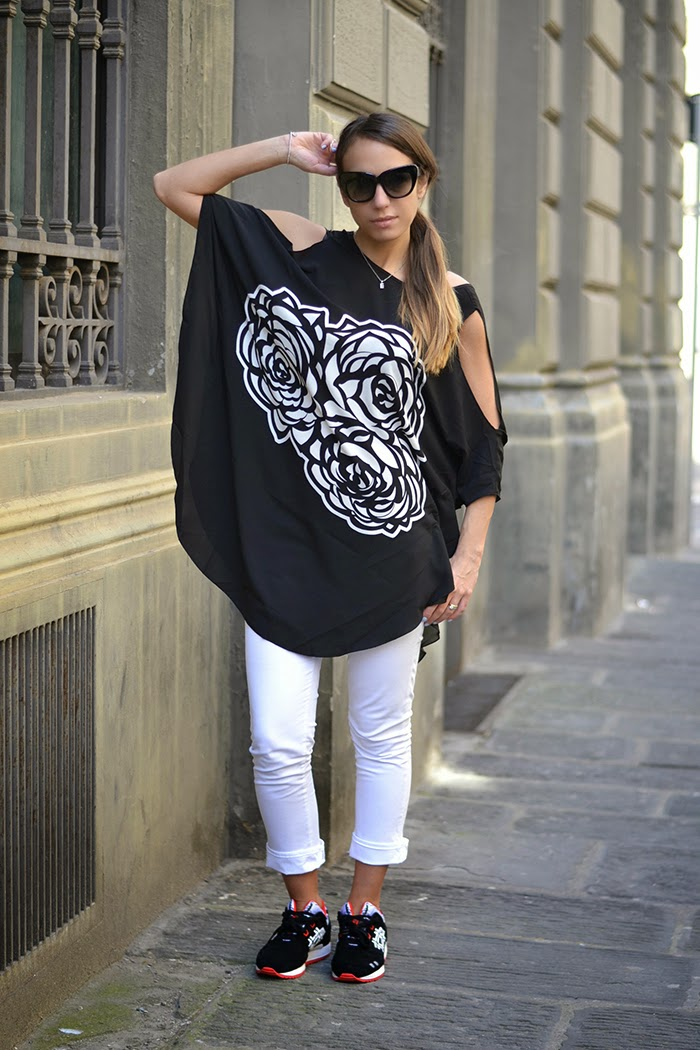 maglia oversize nero bianco