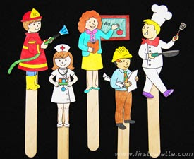 http://www.firstpalette.com/Craft_themes/People/communityhelperstickpuppets/communityhelperstickpuppets.html