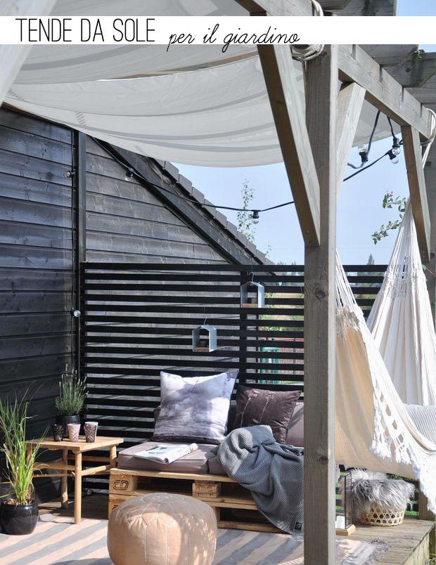 Arredare il giardino con le tende da sole home shabby - Tende da sole per giardino ...
