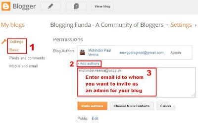 How to create admin or author for a blog - BloggingFunda