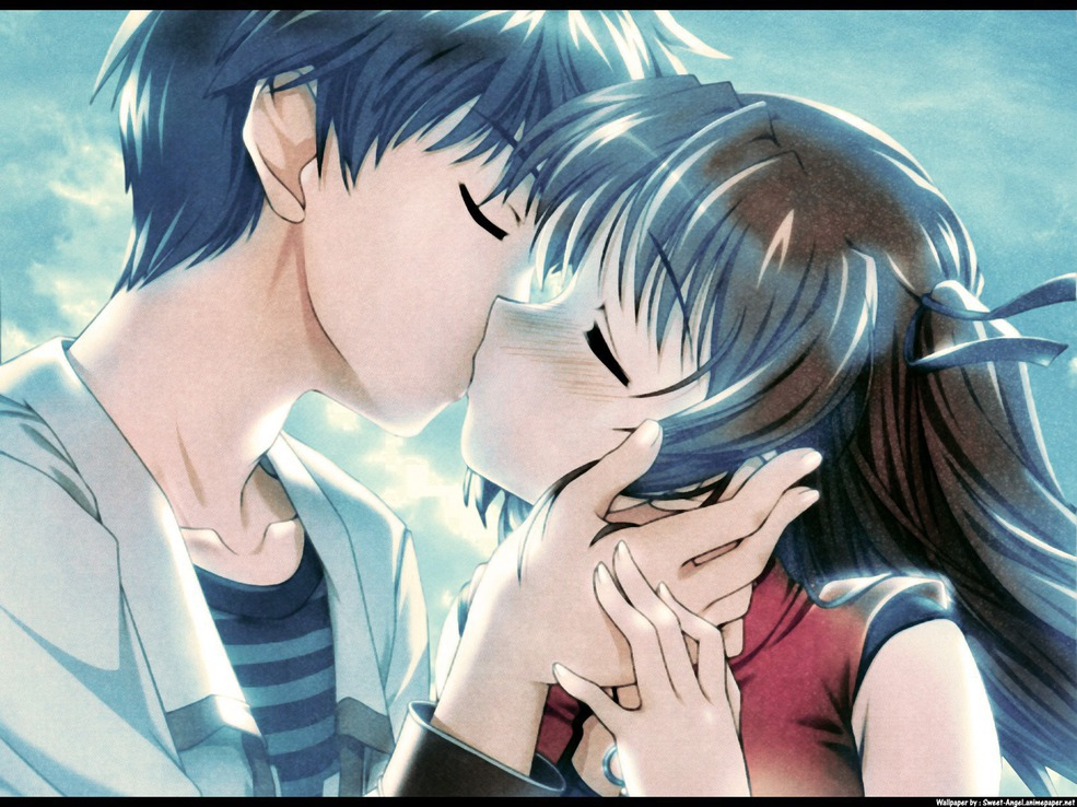 Animals Zoo Park: Anime couple, Anime Love couple Kiss Wallpapers & Pictures