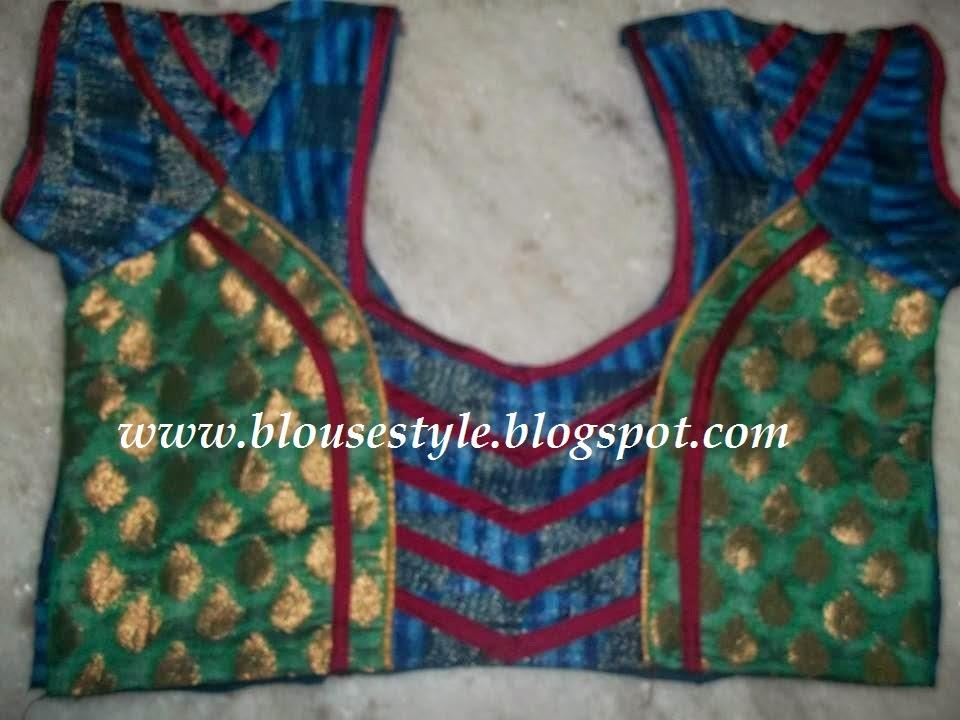 piping stitch blouse