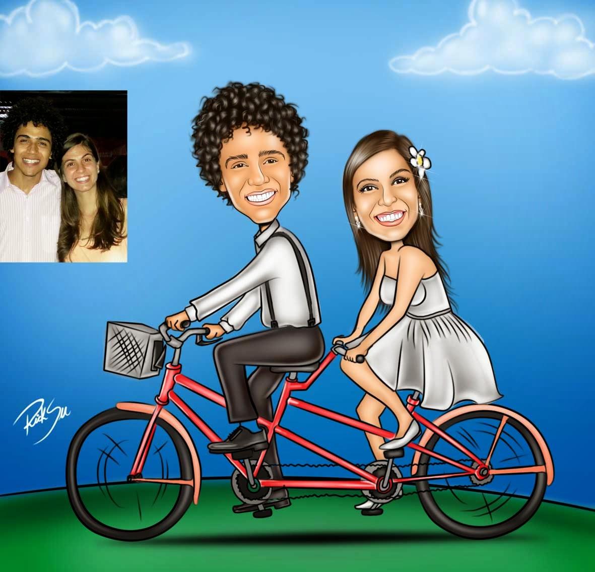 bicicleta dupla em desenho