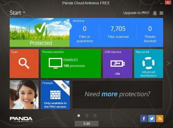 Panda Cloud Antivirus, ücretsiz antivirus programı