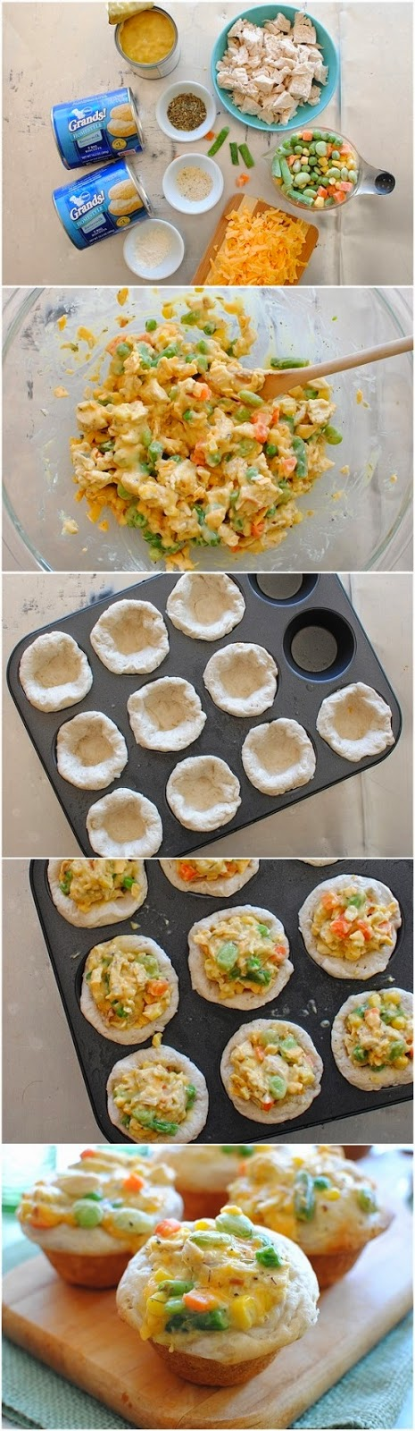 How To Make Mini Chicken Pot Pie Cupcakes