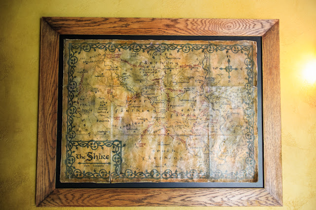 touring Hobbiton | a map of The Shire inside The Green Dragon