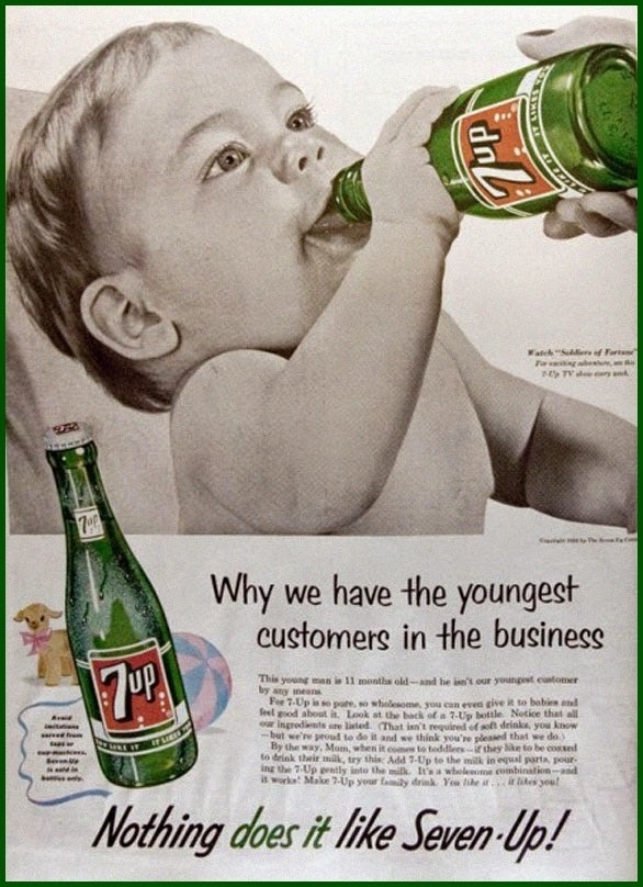 Vintage 7 Up advertisement