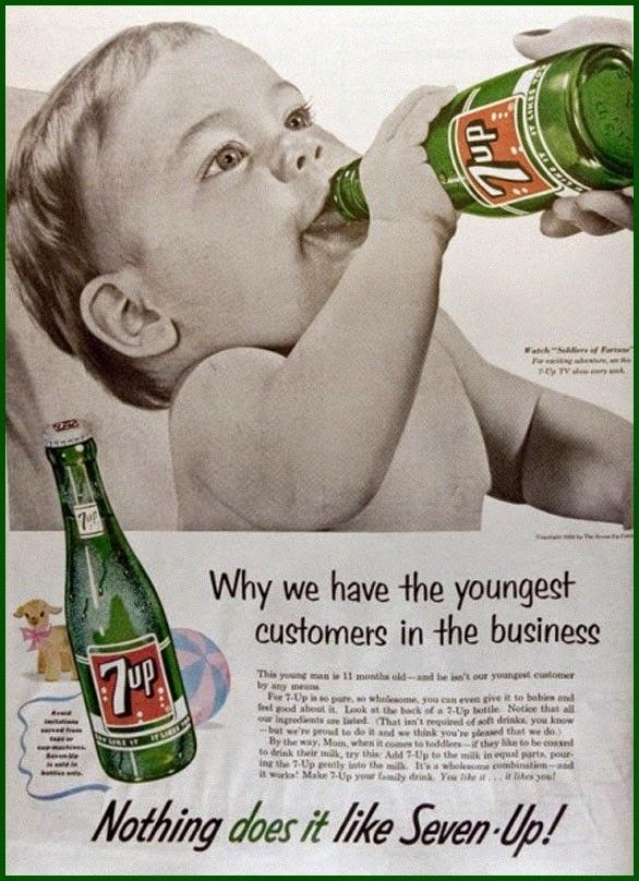 Vintage 7 Up advertisement