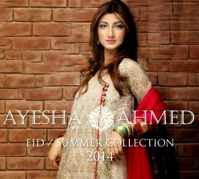 Ayesha Ahmed Eid / Summer Collection 2014 for Girls