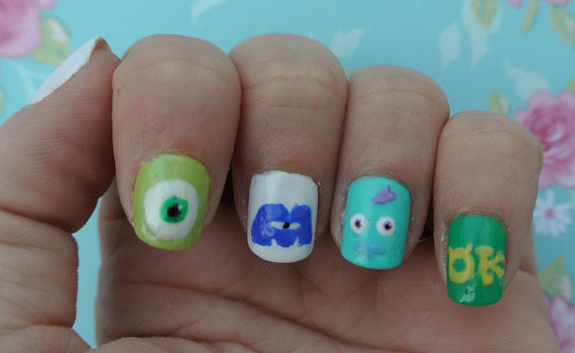 sully monsters inc nails