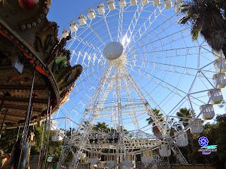 Sevilla - Navidad 2014 - Prado de San Sebastián - Noria y atracciones