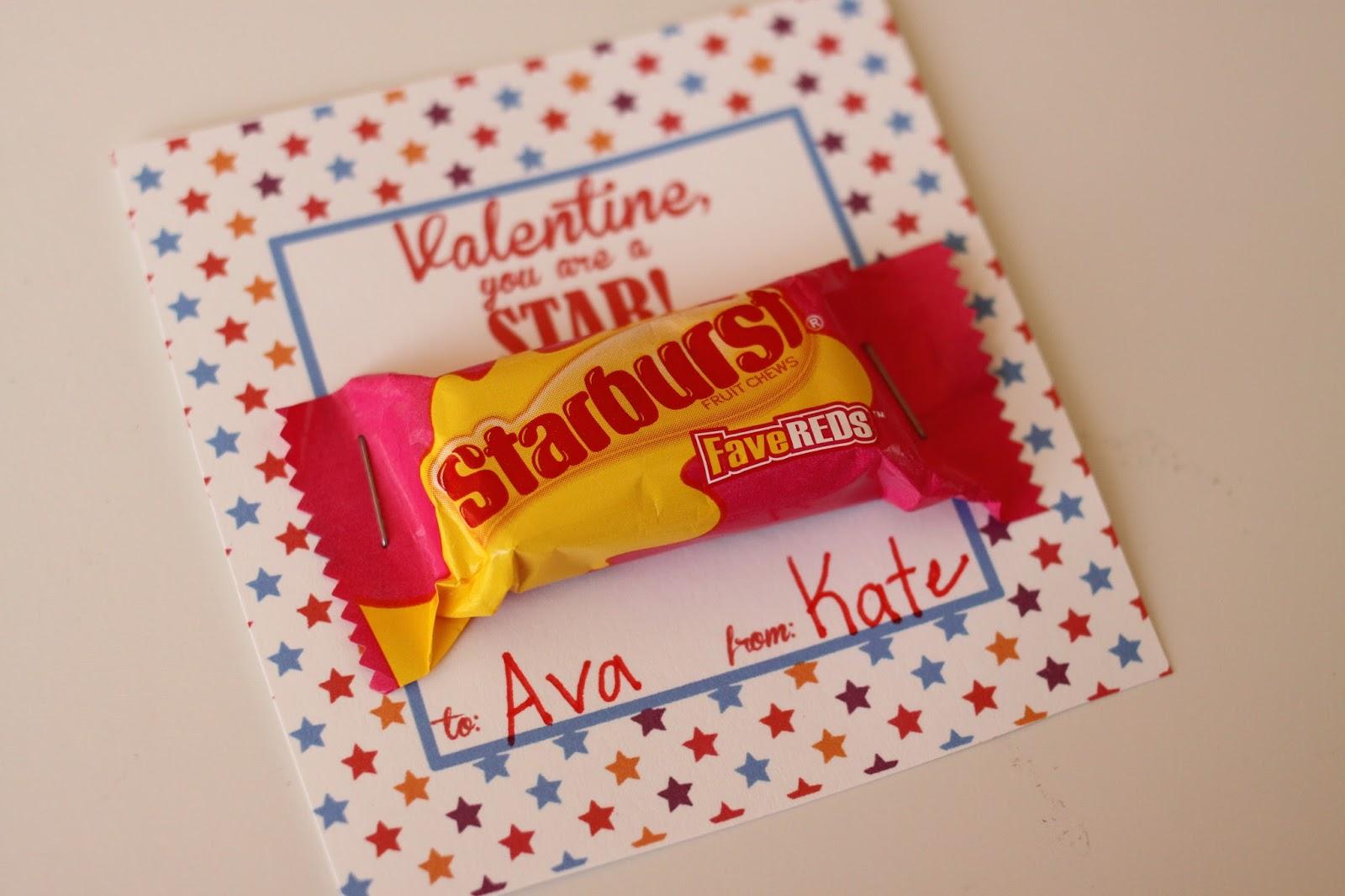 Luscious image within starburst valentine printable