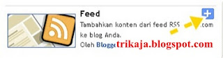 Pasang Feed di Blog