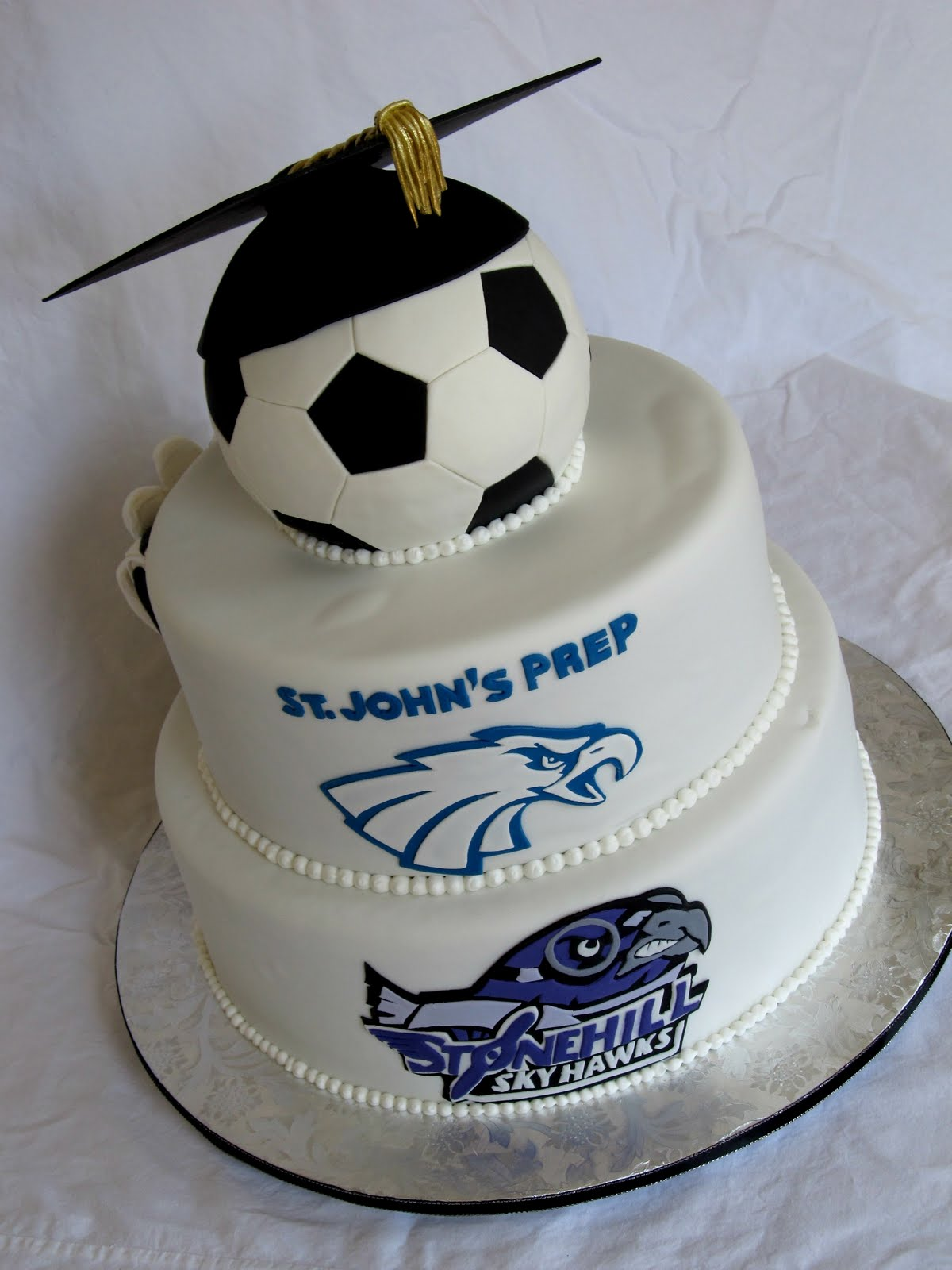 Soccer Graduation Cake   Renee Conner Cake Design