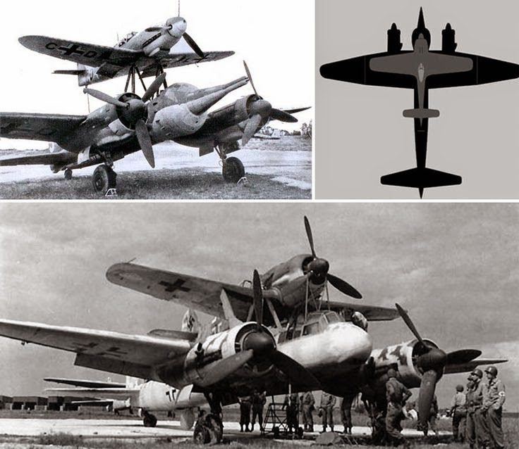 World War II in Pictures: Mistel Piggyback German Bombers