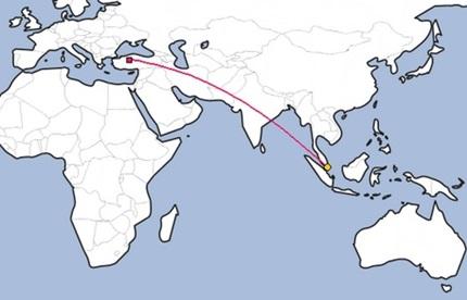 Singapor'un Dünya Haritasındaki Yeri