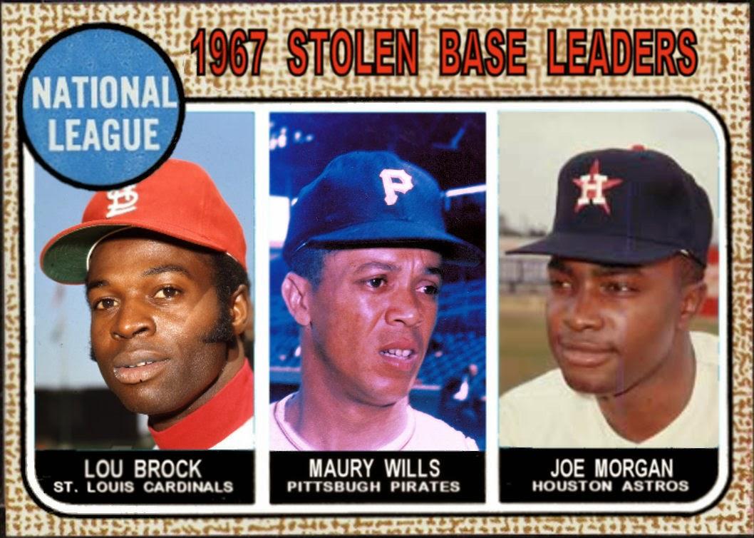 Cards That Never Were: 1970 Topps NL Stolen Base Leaders: Lou Brock, Joe Morgan, Bobby Bonds