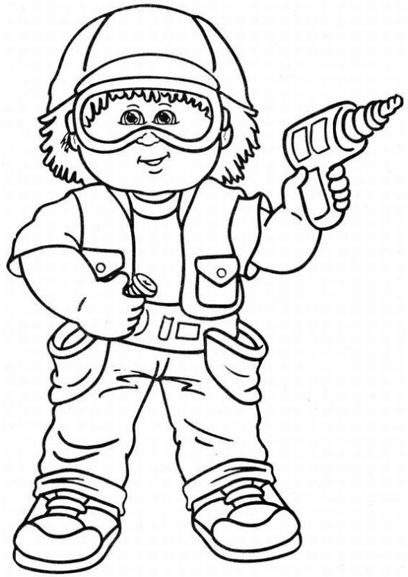 Cabbage Patch Kids Coloring Pages | Learn To Coloring