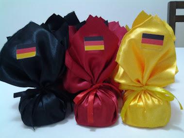 Pão de mel com as cores da bandeira da Alemanha