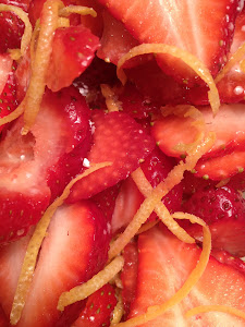Macerated Strawberries & Lemon Zest