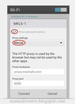 Setting Wi-fi Proxy