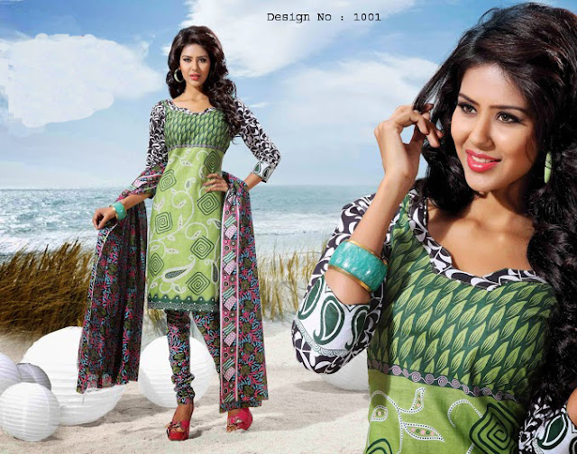 Cotton Printed Dress Material – Indian Printed Cotton Dress Material