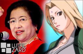 Hokage Kelima,Tsunade, hokage wanita pertama,Megawati, Presiden wanita pertama Indonesia