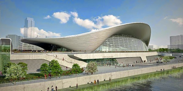 London Aquatics Centre designed by Zaha Hadid