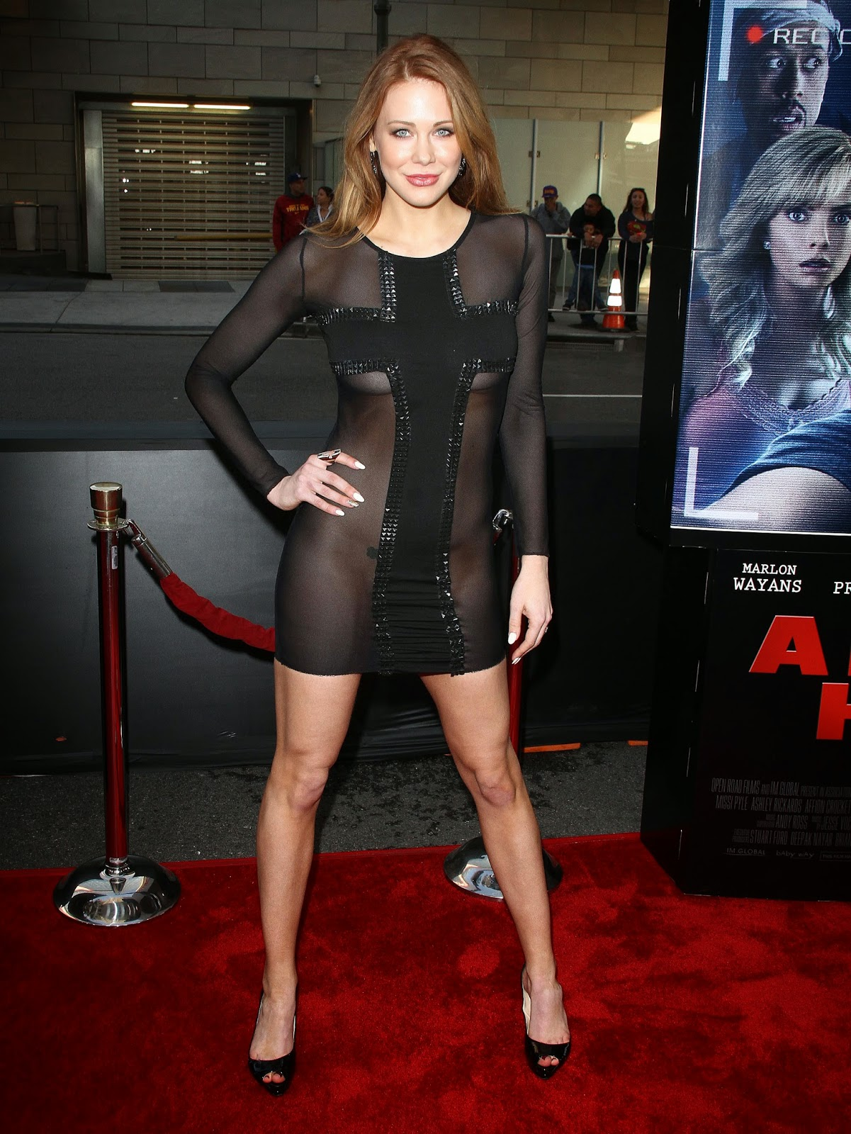 Maitland Ward - A Haunted House 2 premiere in LA