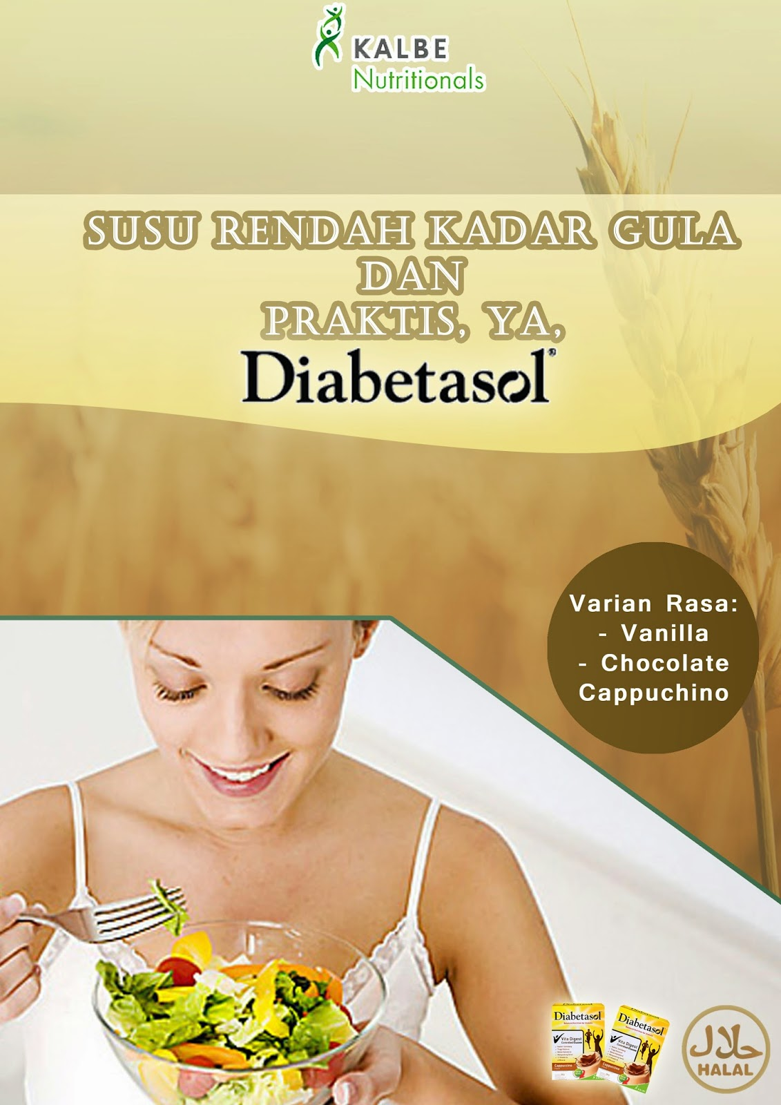 Brown Advertising 2011 Tugas 1 Poster Dan Brosur Susu Diabetasol Gula