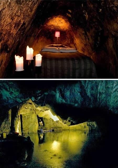 Sala Silvergruva (Sweden): a single room hotel inside a silver mine