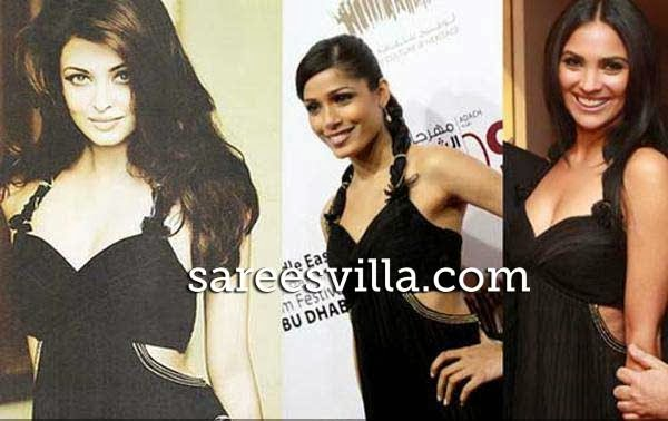 Aishwarya Rai, Freida Pinto, Lara Duta in same outfit