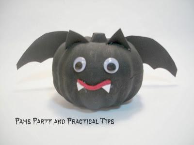 How to make a bat pumpkin