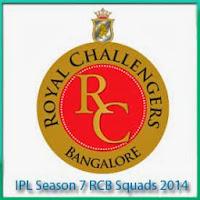 IPL 7 Bangalore Schedule IPL 7 RCB New Players List IPL 7 RCB Match Full Scorecards