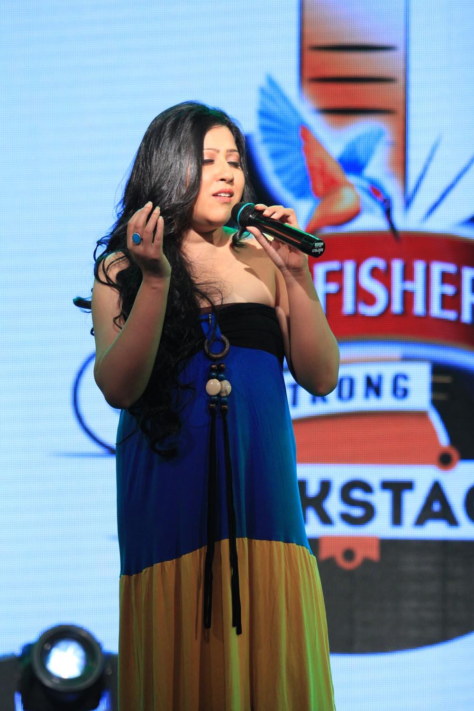 Arpita Chakraborty at Kingfisher Strong Backstage - EF News International
