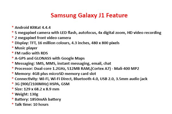 Galaxy J1 Feature