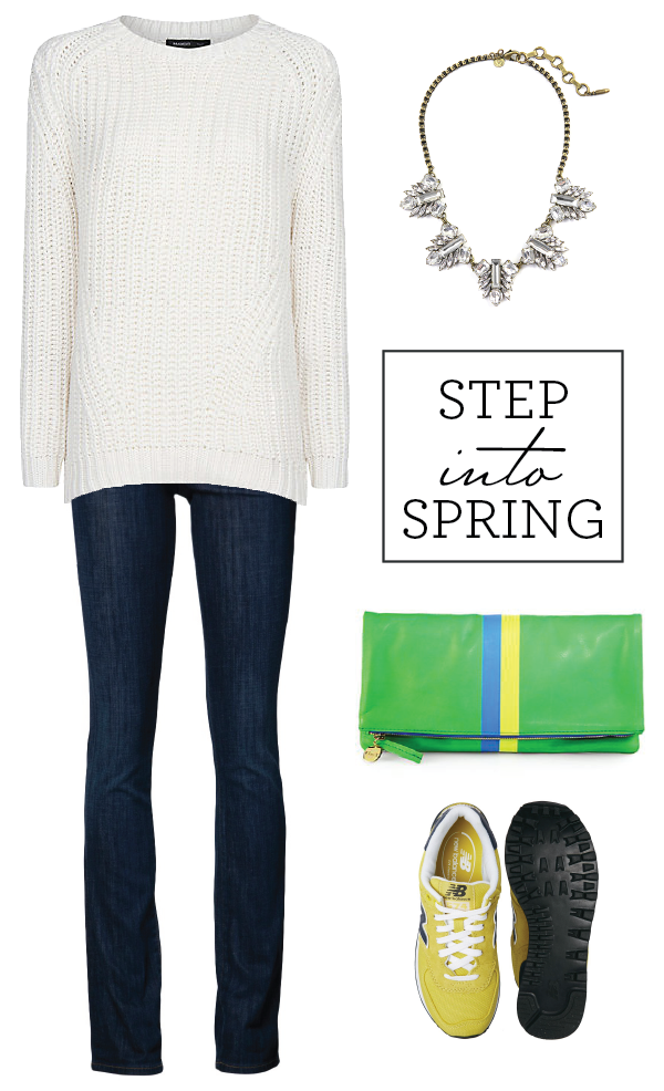 step into spring: a casual look with a touch of sparkle!