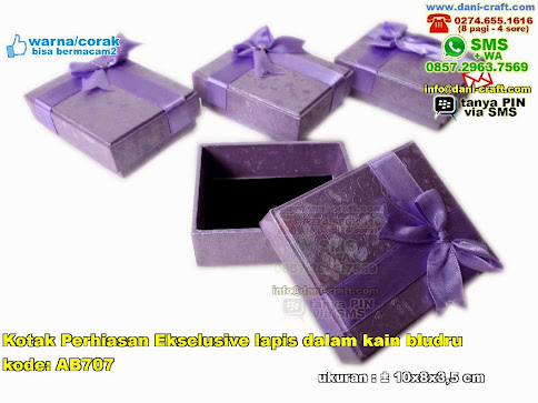 Kotak Perhiasan Eksclusive Lapis Dalam Kain Bludru
