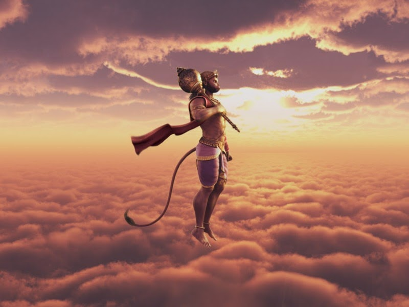 flying hanuman for desktop wallpaper