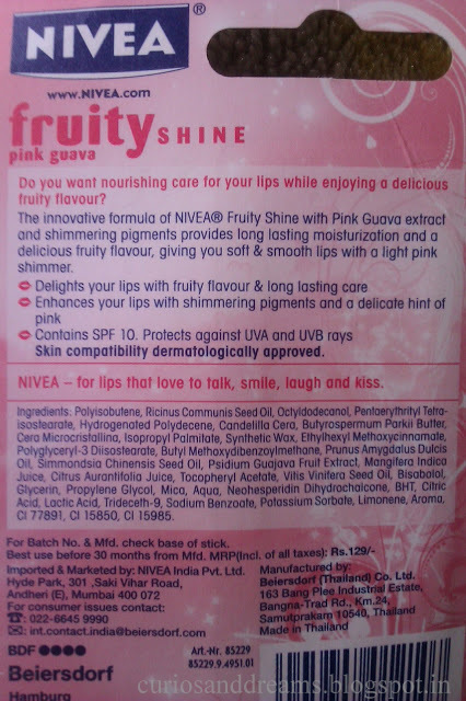 Nivea Fruity Shine Pink Guava Review